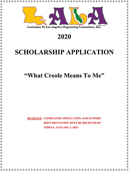 LALA 2020 Scholarship Application